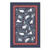 Polar Bear Christmas 100% Cotton Tea Towel by Ulster Weavers.