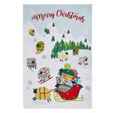 Dotty Dashing Through the Snow Tea Towel.