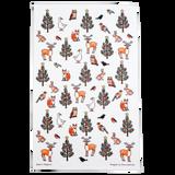 Winter Wildlife Tea Towel by Alison Gardiner.