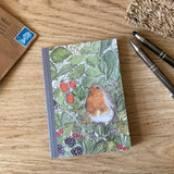 Mosney Mill Robin in Hedgerow A6 Notepad