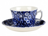 Calico Teacup and Saucer