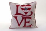 USA Fab Love wool cushion from Jan Constantine.