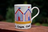Beach Hut Stripes- Red/Blue - Beside the Sea on Cape Cod
