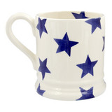Emma Bridgewater Blue Star Half Pint Mug