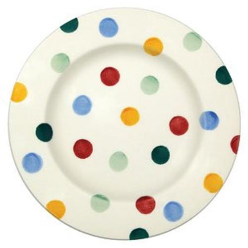 6 1/2 inch Emma Bridgewater Polka Dot pottery plate.