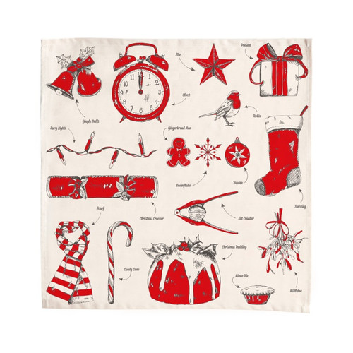 Christmas Delights 100% cotton napkin from Victoria Eggs.