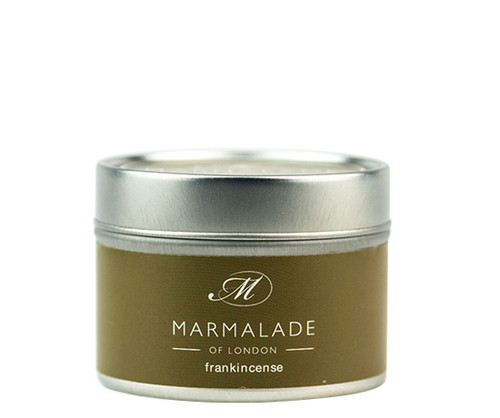 Frankincense small tin candle from Marmalade of London.