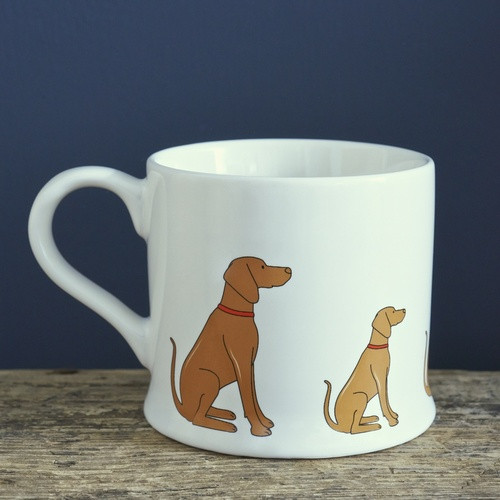 Pottery Vizsla mug from Sweet William Designs.
