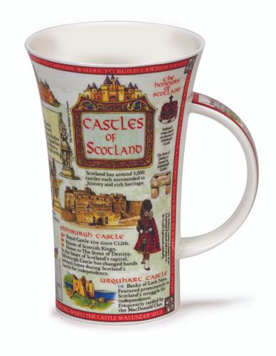 Dunoon Glencoe Castles of Scotland fine bone china mug.