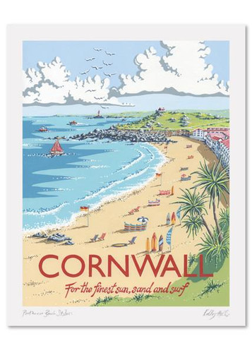 Kelly Hall Cornwall Print. Printed in England.
