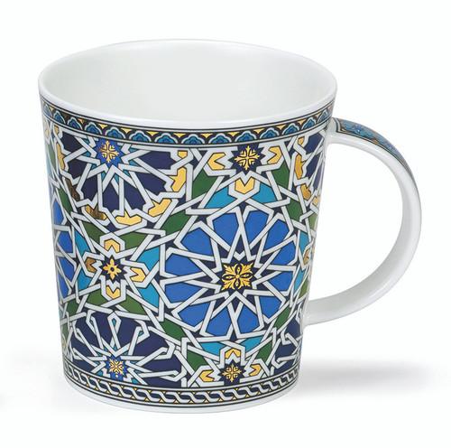Dunoon Lomond Sheikh blue bone china mug.