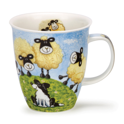 Dunoon Nevis Sheepies Hill bone china mug.