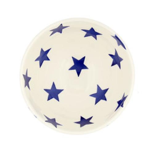 Emma Bridgewater Blue Star French bowl inside. Handmade in England.
