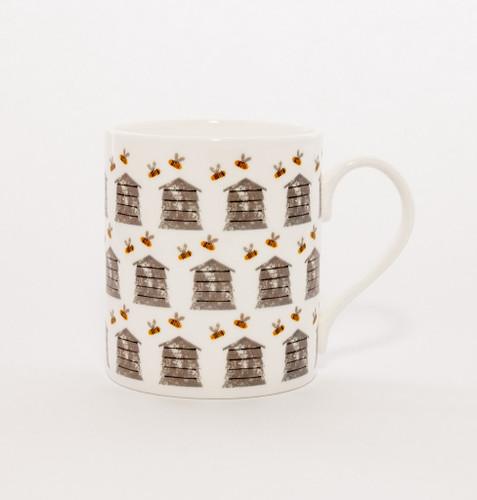 Bee Hive repeat fine bone china mug from Izzirainey.