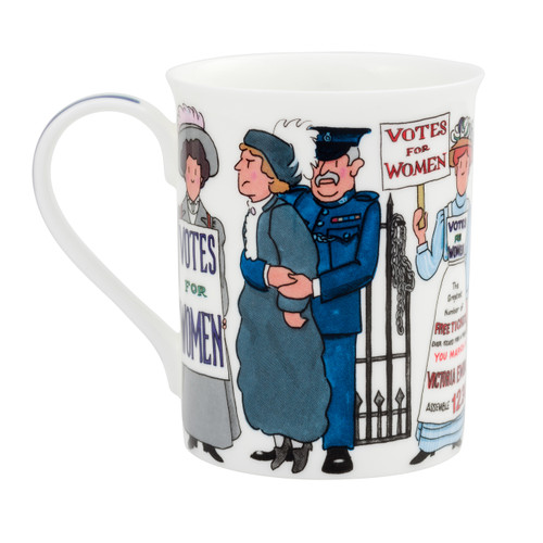 Alison Gardiner Bone China Suffragette mug boxed.