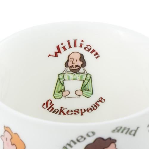 Alison Gardiner Bone China Shakespeare Characters mug boxed.