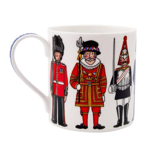 Alison Gardiner Bone China British Figures mug boxed.