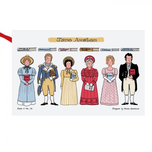 Alison Gardiner  Jane Austen cotton tea towel