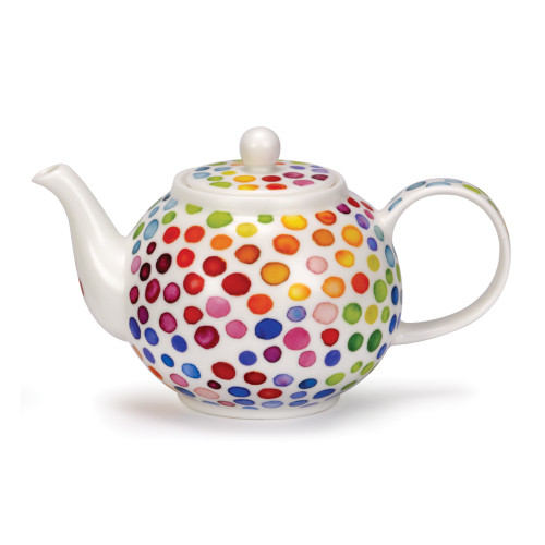 Fine bone china Dunoon Hot Spots large teapot.