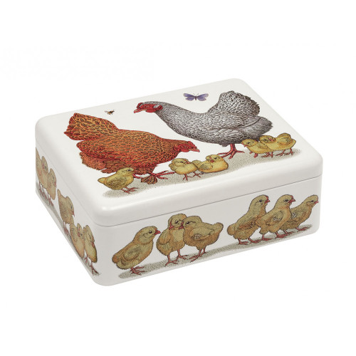 Vanessa Lubach Chickens Deep Rectangular Tin