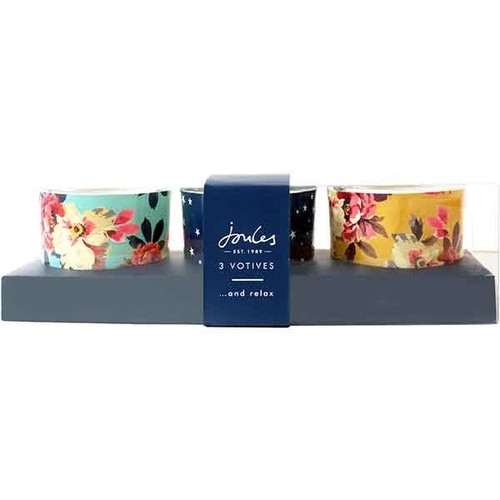 Joules set of 3 glass votives.