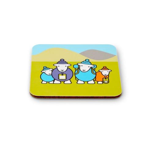 Herdy Hiker Family Melamine Coaster