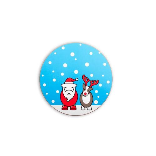 Herdy Christmas Coaster