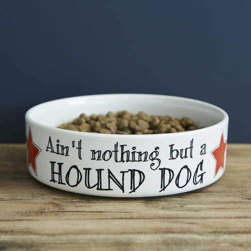 Pottery Ain't Nothing but a Hound Dog Pet Bowl from Sweet William Designs.