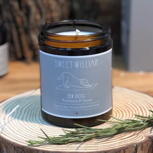 100% organic vegan Zen Dog candle from Sweet William Designs.