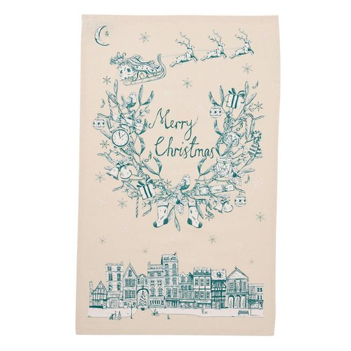 Organic cotton Night Before Christmas Tea Towel from Victoria Eggs.