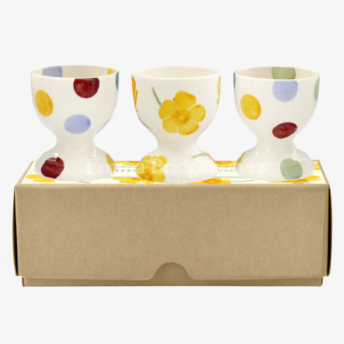 Emma Bridgewater Bright New Morning Three Piece Egg Cup Melamine Set Gift Boxed