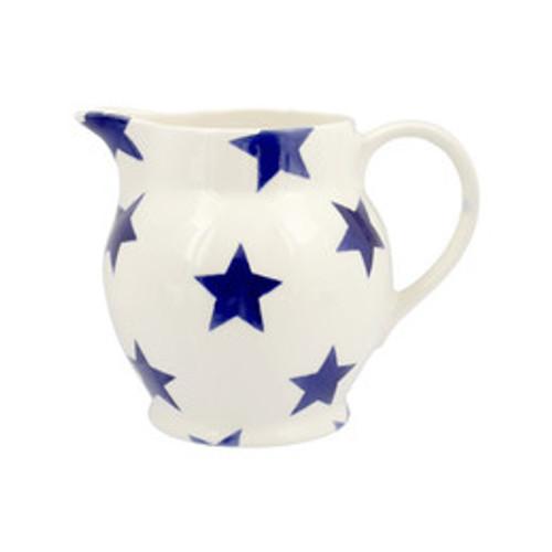 Emma Bridgewater Blue Star Half Pint Jug. Handmade in England.