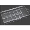 11-Slot Clear Hard Plastic Mini Tip Box 100/Box
