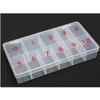 11-Slot Soft Plastic Large Tip Box 100/Box