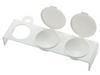 Triple Plastic Dappen Dish White