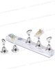 MAGNETIC Nail Art Stand Silver 5/Set + 50 Tips