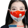"Reusable Face Masks ""STAR & HEART"" W/ Valve Breathing Yellow Filter"
