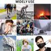 "Reusable Face Masks -""ARROW""  Black W/ Valve Breathing Yellow Filter"