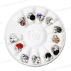 CHARM ALLOY Crystal Assorted Color 12 Design