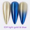 INSTANT Mirror Effect  Light Gold  & Blue #3