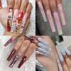"""CLEAR TIP """"C"""" Curved, X-Long Square & Straight 120/case"""