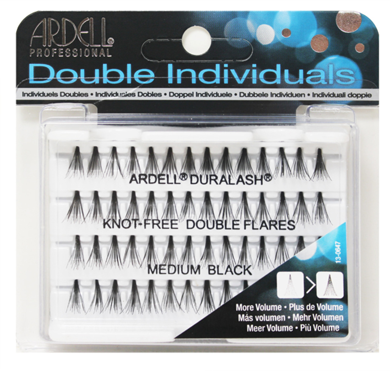 0617af99ee7 Ardell - Double Up Individuals Medium Knot Free Black 72/Box - TDI, Inc