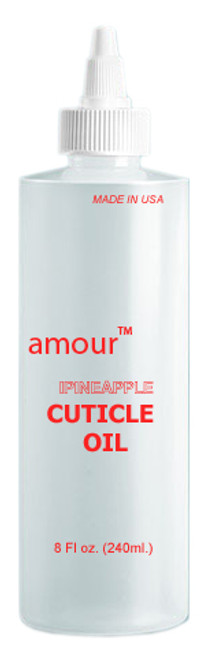 "EMPTY Imprinted Bottle ""CUTICLE OIL"" 8oz."