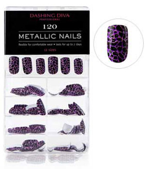 Dashing Diva - Metallic Crackle Nails - Call of the Wild *