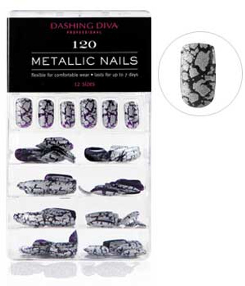 Dashing Diva - Metallic Crackle Nails - Heavy Metal *