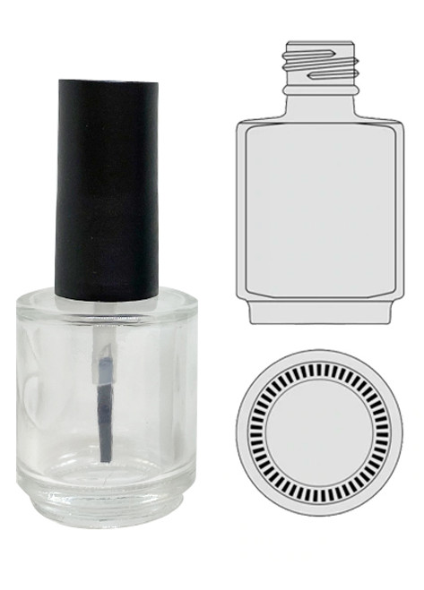 Empty Glass Bottle - Clear With Cap 0.5oz