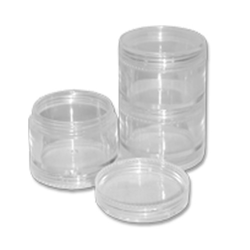 5 Stackable Clear Jar Set