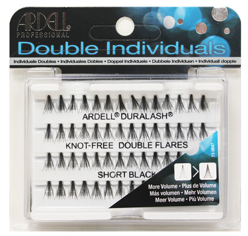 Ardell - Double Up Individuals Short Knot Free (Black) 72/Box