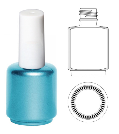 EMPTY BOTTLES-Blue-Pearl Painted Gel Polish 0.5oz   90/Tray