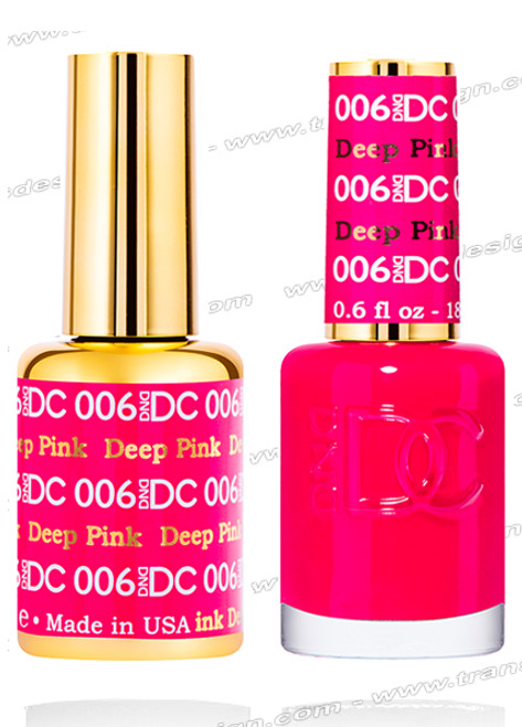 DND DC Duo Gel Polish – Deep Pink